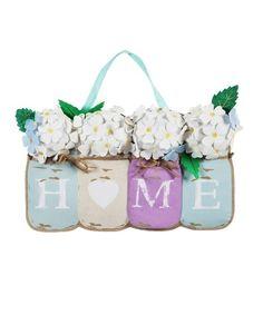 Home Mason Jars Large Door Decoration Spring/Summer Colored Mason Jars, Large Mason Jars, Diy Hanging Shelves, Floating Shelves Diy, Burlap Mason Jars, Jar Design, Mason Jar Lighting, Wine Bottle Crafts, Jar Crafts