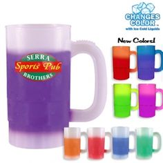 Great full colour imprint beer stein for that high priced look at a fraction of the cost.  Colour changes when cold beer is added!