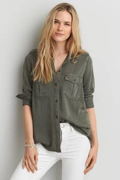 348f92591 20 Best White Button Down Shirt images | Classy outfits, Clothing ...