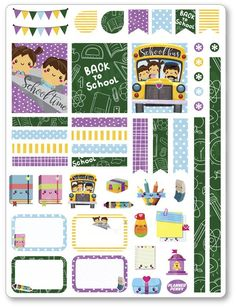 Back To School Decorating Kit / Weekly Spread Planner Stickers