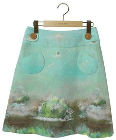 franchelippee(フランシュリッペ)「総柄スカート(スカート)」 グリーン