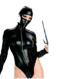 Sex ninja leather teddy