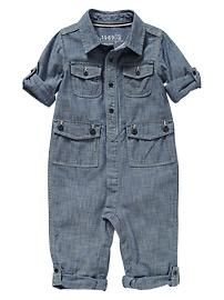 Convertible chambray one-piece - what-to-wear Baby Gap spring 2013