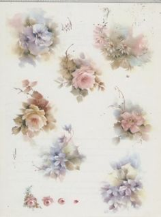 Floral Variety 44 by Helen Humes China Painting Study 1975 | eBay