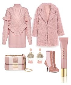 """""""Untitled #824"""" by cathatin on Polyvore featuring Mother of Pearl, Fendi, MICHAEL Michael Kors, Oscar de la Renta and AERIN"""