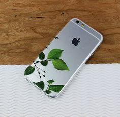 Tree Leaves iPhone 6 Case, nature galaxy case, green phone cover, clear plastic case, flexible iphone case, transparent case, silicone cover