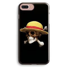 Straw Hat Bone One Piece Anime Apple iPhone 7 Plus Case Cover ISVC467