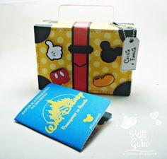 Convite Mickey - Malinha + passaporte