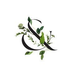 Floral ampersand, sitting pretty.  #ViridianbyV #savethedates #ampersand