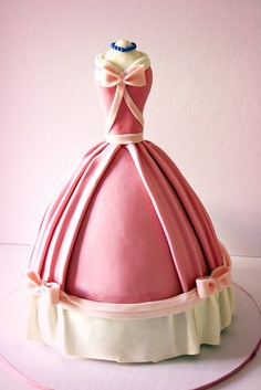 Cinderella's Pink Dress Cake by Ban Bakes