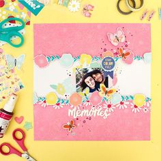 """I'm so madly in love with @dearlizzy latest collection with @americancrafts """"Stay Colorful""""! It's really a super fun and colorful collection! It's such a joy to scrap with it! This is my very first layout using it I couldn't really decide which products to use first cause I just love them all so much!!! All the details are available on the American Crafts blog along with a process video so you can scrap along ;) #ziniaamoiridou #abstractinspiration #acstaycolorful #dlstaycolorful…"""