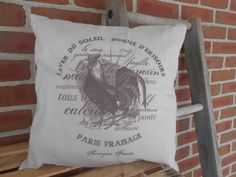 Pillow Feed Sack Pillow Couch pillow country pillow farm www.etsy.com/shop/feedsacklady