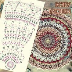 Crochet Doily Diagram, Crochet Doily Patterns, Thread Crochet, Crochet Doilies, Crochet Stitches, Crochet Blocks, Vintage Crochet, Diy Paper, Crochet Projects