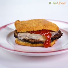 Aunt Kath's Kitchen's Meatloaf Burger #TheChew
