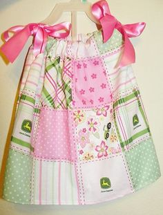 John Deere pillowcase dress - another possibility for either her party or this summer