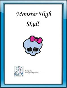 Monster High Plastic Canvas Skull by BearySweetCreations on Etsy, $3.00