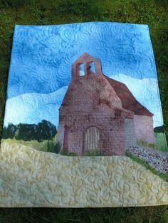 """Quilt """"Kapelle in Frankreich """" nach einem Foto"""