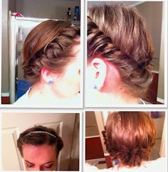 Interesting braid incorporating an elastic headband