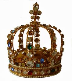 French: Crown of Louis XV 1722. This crown was bequeathed to Basilica of Saint Denis on the death of Louis XV, but not before the diamonds had been replaced with crystals and it is on display presently in the Louvre similarly set with crystals.