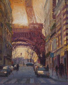 "Rue de l'Universite, 8""x10"", oil on linen, by Paul Ferney"