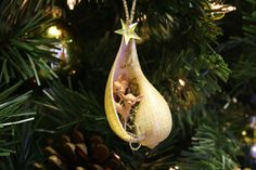 Fig shell with Reindeer Ornament