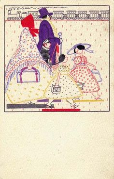 824. Fritzi Löw - Wiener Werkstatte postcard - Juillet