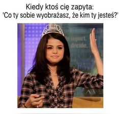 Polish Memes, Selena Gomez Pictures, Funny Mems, Happy Photos, True Memes, Wtf Funny, Reaction Pictures, Fun Facts, Haha