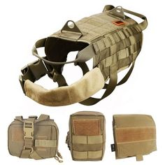 OneTigris Military Dog Hunting Vest with Detachable Pouches