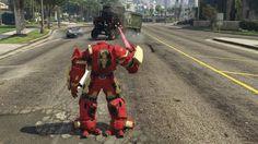"Zbroja Ironmana ""mini Hulkbuster"" jako mod do GTA V"