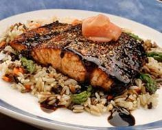 Red Lobster's Peppercorn Crusted Salmon With Wasabi Soy Drizzle -- made this for V-Day and it was delicious!!!