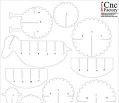 3 D sheep template on Etsy CncFactory designs and produces digital files for your own assembling Kirigami Templates, 3d Templates, Animal Templates, Cardboard Cartons, Cardboard Paper, Paper Toys, Cardboard Crafts, Eid Crafts, Paper Crafts