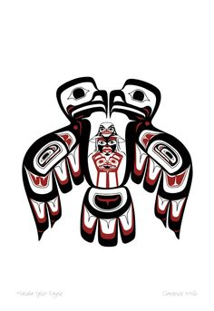 Haida Split Eagle by Clarence Mills