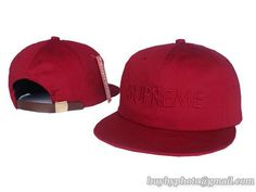 Supreme Strapback Hats Caps Wine Red