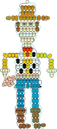 Toy Story Woody pony beads pattern