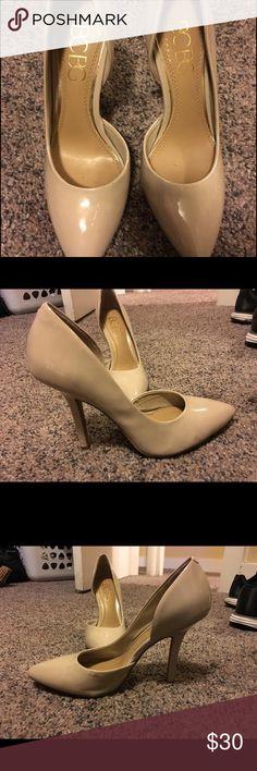 BCBG nude heels BCBG nude pointed toe heels BCBG Shoes Heels