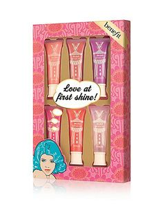 love at first shine! from benefit cosmetics. Saved to Beauty. Shop more products from benefit cosmetics on Wanelo. Holiday Gift Guide, Holiday Gifts, Lip Gloss Set, Secret Santa Gifts, Benefit Cosmetics, Benefit Makeup, Christmas Gifts For Her, Shinee, First Love