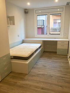 Habitación juvenil Bunk Beds, Living Spaces, Bench, Storage, Furniture, Home Decor, Teenage Room, Nail Decorations