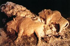 Clay Bison at Tuc dAudobert, French Pyrénées,  10 000 BCE