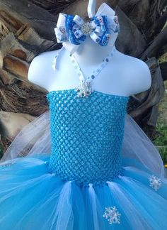 Princess Elsa Inspired Frozen Tutu Dress