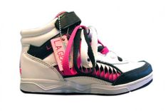 Hightop LA Gears with 3 pairs of mulit-colored laces were totally practical to a 9 year old.