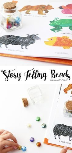 Story Telling Beads - a unique way to engage a child while telling a story, - through his method they are more likely to recall the story by having a visual representation stored in their memory!! From @mamamissblog