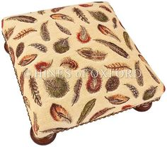 Tapestry Footstools   Feathers Tapestry Footstool