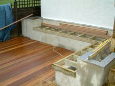 We then added the hardwood decking leaving cables showing ready for the deck lights to be attached.