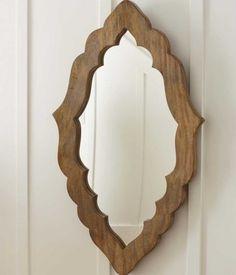 Hand-Carved Moorish Mirror mediterranean mirrors--spray paint black or bright color (orange, turquoise)