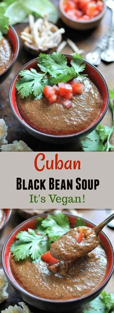 The easiest vegan Cuban black bean soup ever! Perfect for a summer dinner.