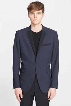'Wellar' Trim Fit Wool Dinner Jacket