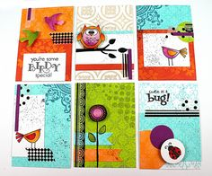 ATC set and tutorial video by Jill Foster for Penny Black, www.stampinginspiredby.blogspot.com