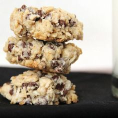 Gluten-Free Vegan Chocolate Coconut Oatmeal Cookies vegan, plantbased, earth balance, made just right