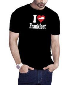 I Love Frankfort Kentucky T-Shirt Black