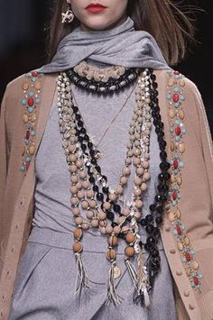 Jewelry Fall 2013 Trends Paris Fashion Week Mala Style ethnic jewelry#DressingwithBarbie